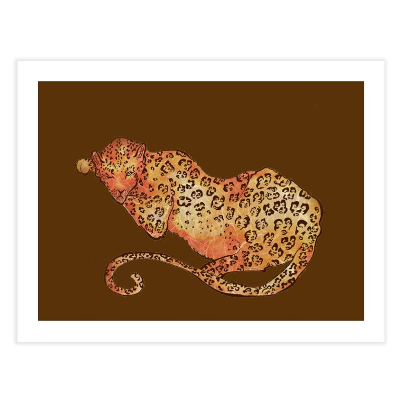 Leopard Home Fine Art Print by JordanaHeney Illustration