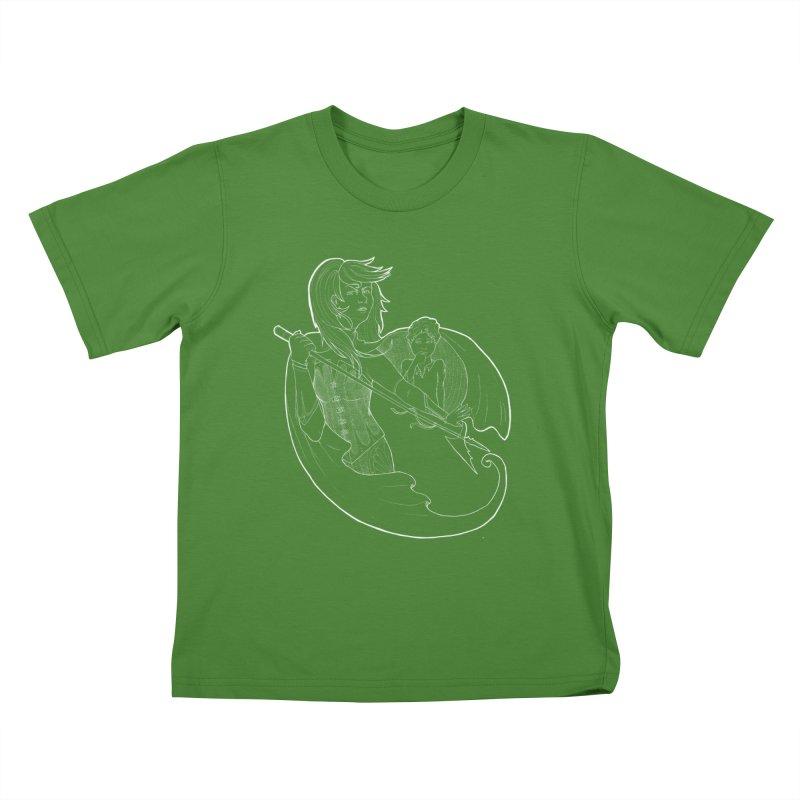Hansel & Gretel (W) Kids T-Shirt by JordanaHeney Illustration