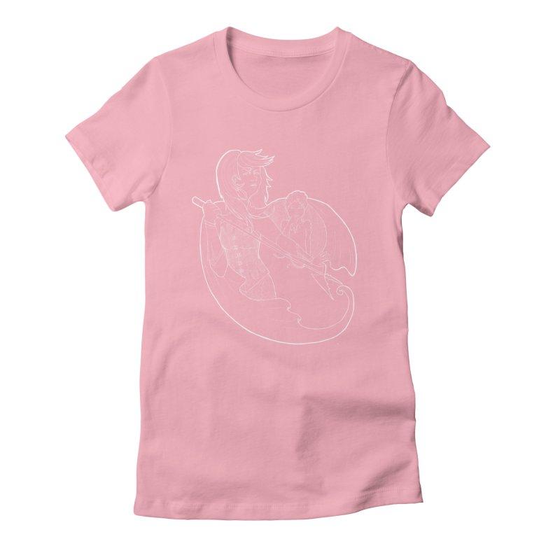 Hansel & Gretel (W) Women's Fitted T-Shirt by JordanaHeney Illustration