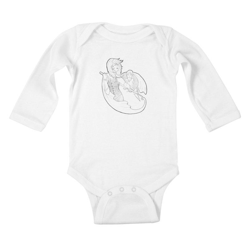 Hansel & Gretel (B) Kids Baby Longsleeve Bodysuit by JordanaHeney Illustration