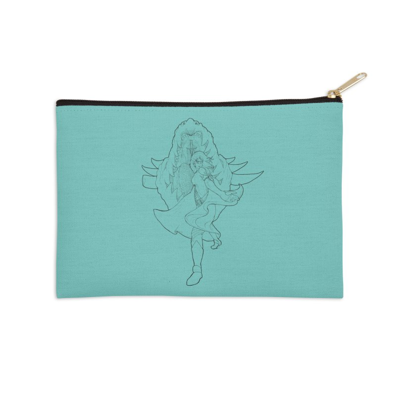 Aurora (B) Accessories Zip Pouch by JordanaHeney Illustration