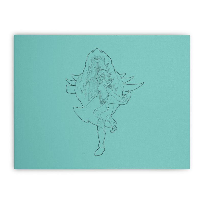 Aurora (B) Home Stretched Canvas by JordanaHeney Illustration