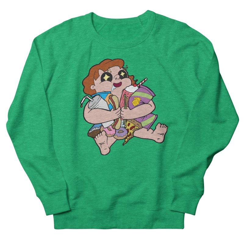Junk Foodie Women's French Terry Sweatshirt by JordanaHeney Illustration