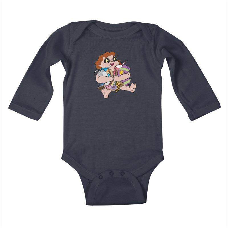 Junk Foodie Kids Baby Longsleeve Bodysuit by JordanaHeney Illustration