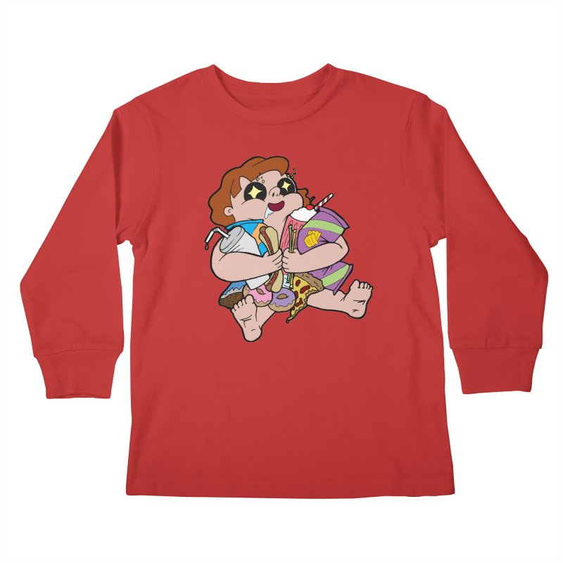 Junk Foodie Kids Longsleeve T-Shirt by JordanaHeney Illustration