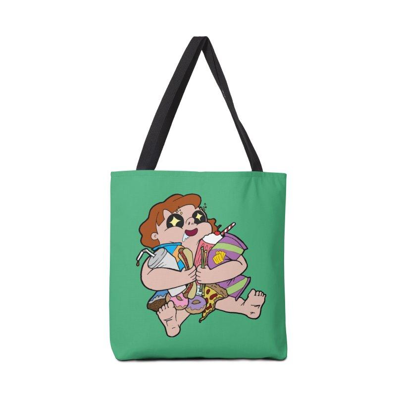 Junk Foodie Accessories Tote Bag Bag by JordanaHeney Illustration