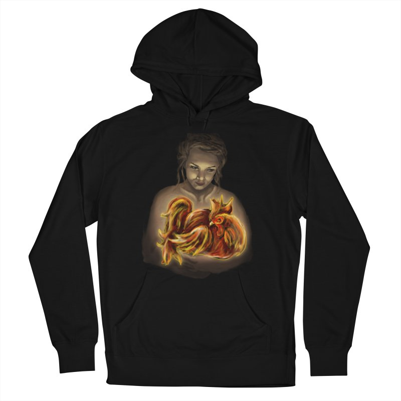 Year of the Fire Rooster Women's Pullover Hoody by JordanaHeney Illustration