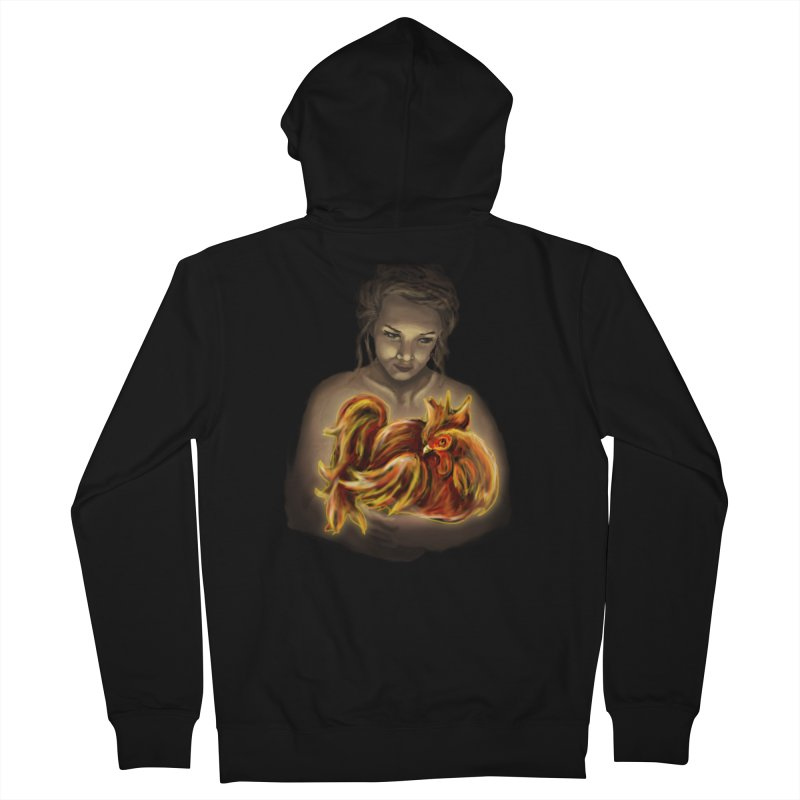 Year of the Fire Rooster Women's French Terry Zip-Up Hoody by JordanaHeney Illustration