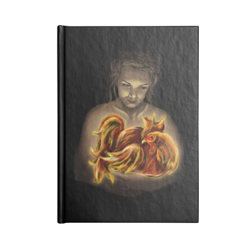 Year of the Fire Rooster Accessories Notebook by JordanaHeney Illustration