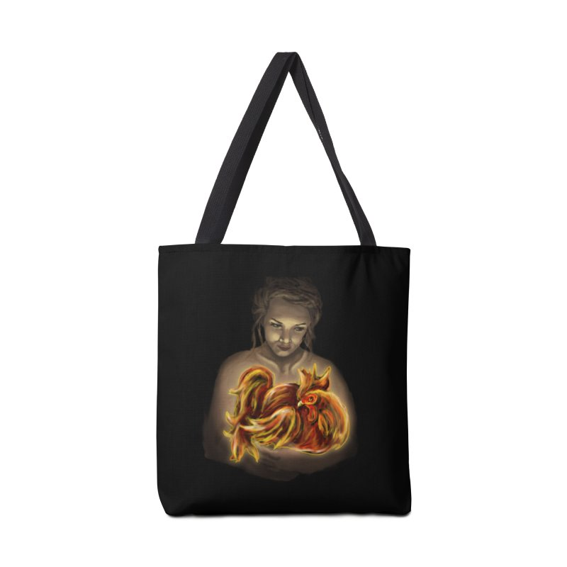 Year of the Fire Rooster Accessories Bag by JordanaHeney Illustration