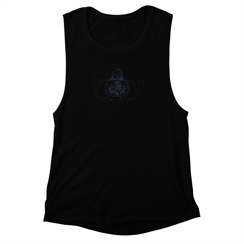 The Thunder Within Women's Muscle Tank by JordanaHeney Illustration