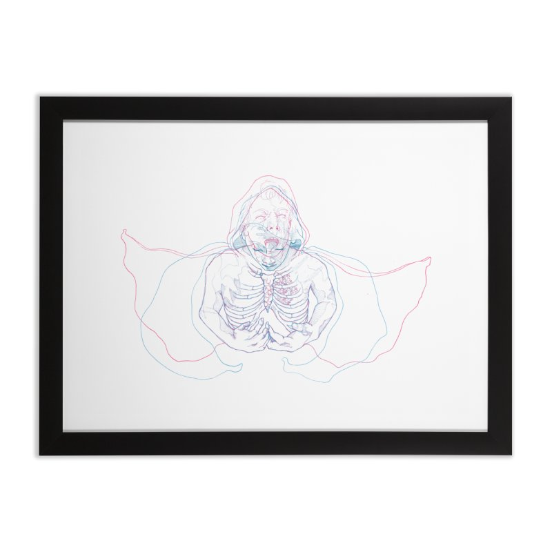 The Thunder Within Home Framed Fine Art Print by JordanaHeney Illustration
