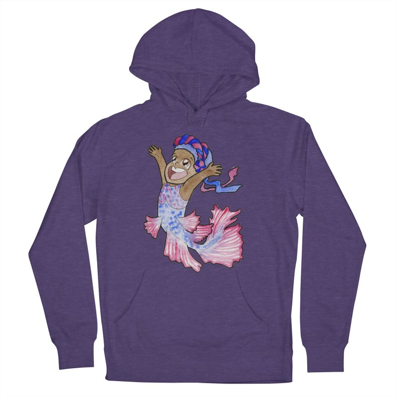Beta Buddie Women's French Terry Pullover Hoody by JordanaHeney Illustration