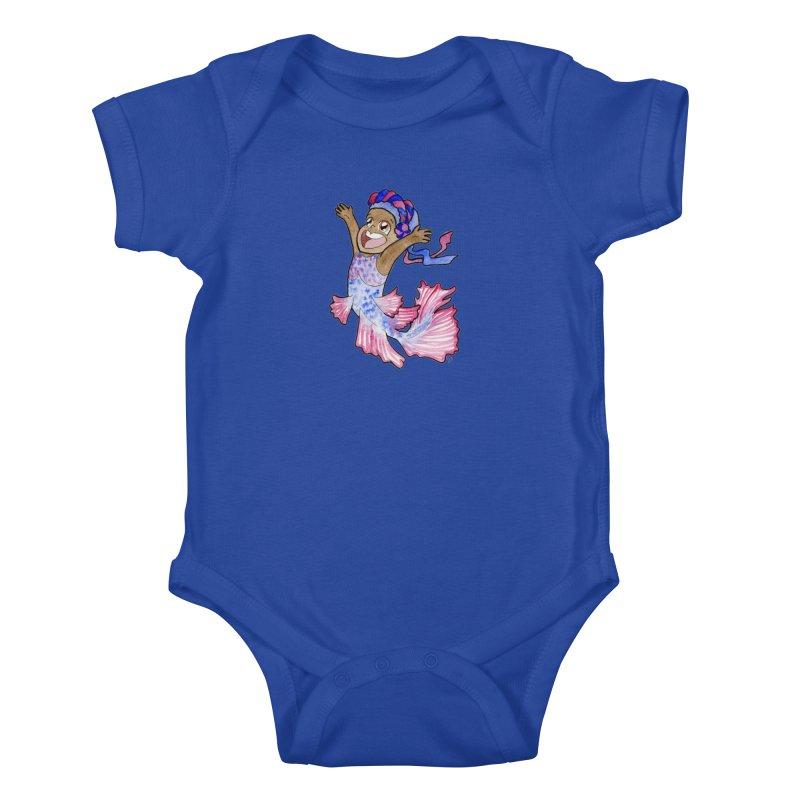 Beta Buddie Kids Baby Bodysuit by JordanaHeney Illustration