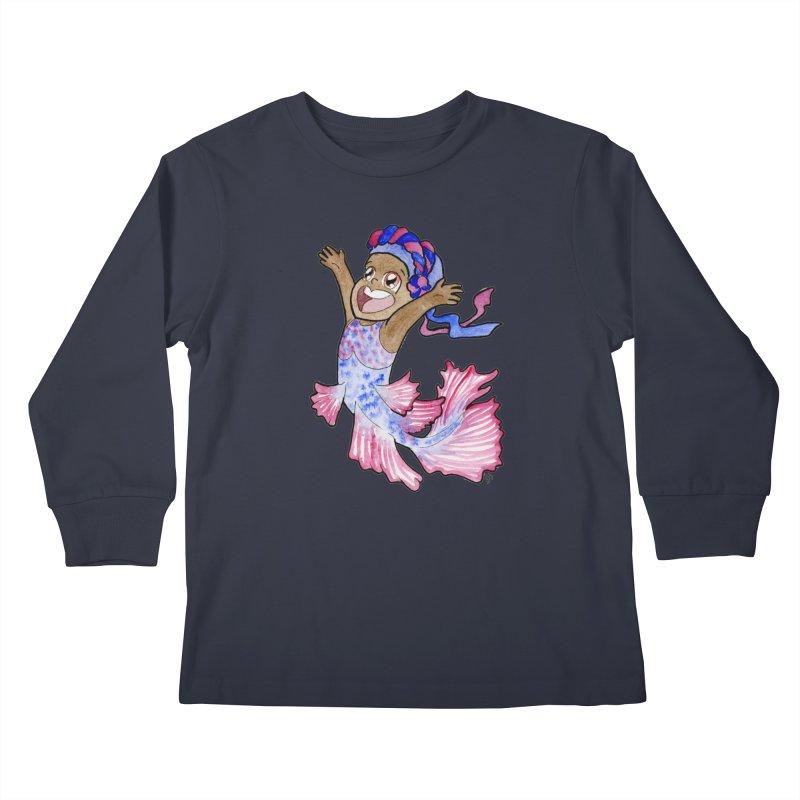Beta Buddie Kids Longsleeve T-Shirt by JordanaHeney Illustration