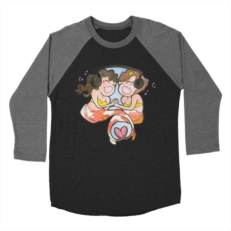 Besties Women's Baseball Triblend Longsleeve T-Shirt by JordanaHeney Illustration