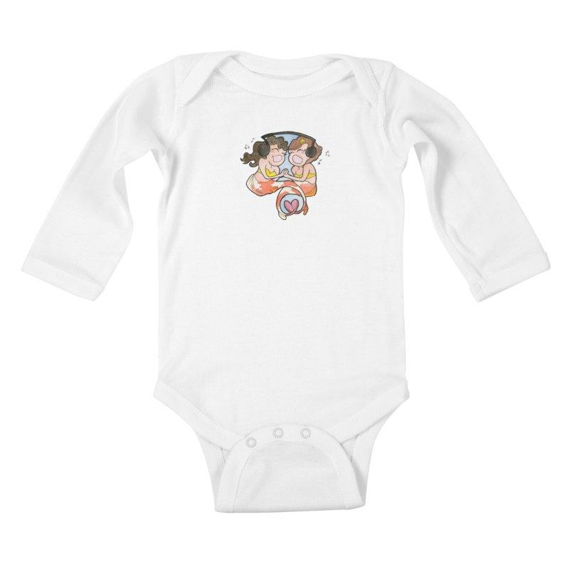 Besties Kids Baby Longsleeve Bodysuit by JordanaHeney Illustration