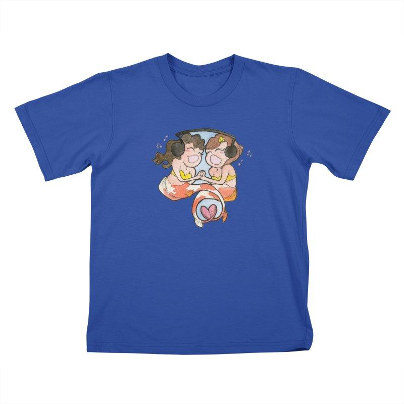 Besties Kids T-Shirt by JordanaHeney Illustration