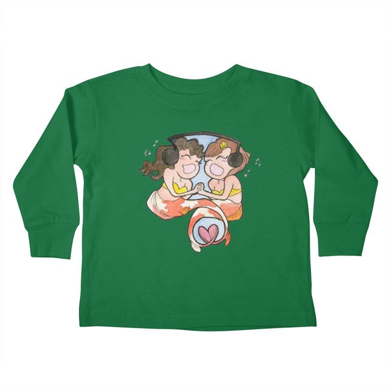 Besties Kids Toddler Longsleeve T-Shirt by JordanaHeney Illustration