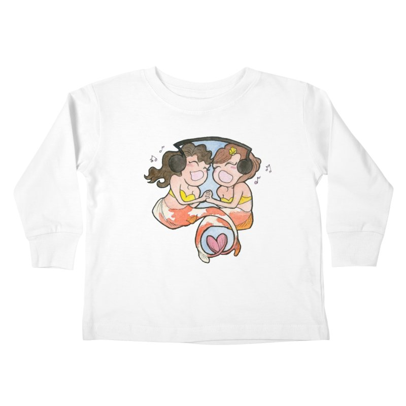 Besties Kids Toddler Longsleeve T-Shirt by JordanaHeney Illustration