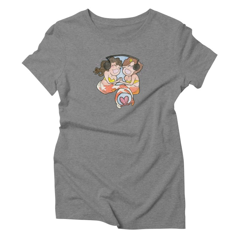 Besties Women's Triblend T-Shirt by JordanaHeney Illustration