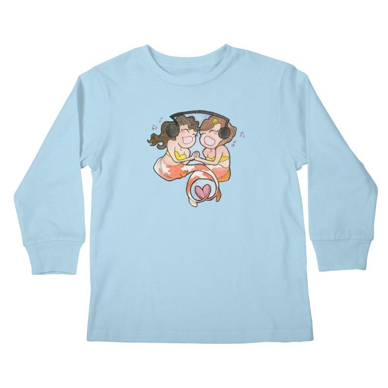 Besties Kids Longsleeve T-Shirt by JordanaHeney Illustration