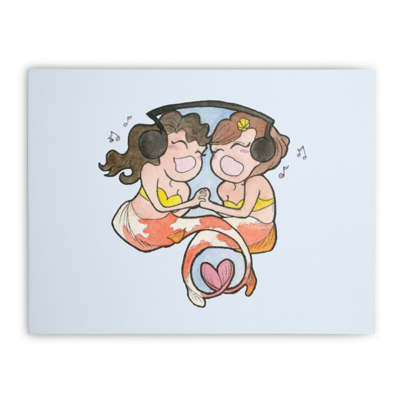 Besties Home Stretched Canvas by JordanaHeney Illustration