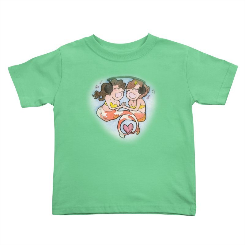 Besties Kids Toddler T-Shirt by JordanaHeney Illustration