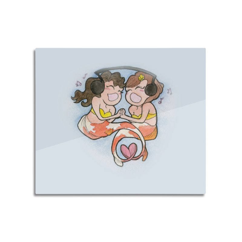 Besties Home Mounted Acrylic Print by JordanaHeney Illustration