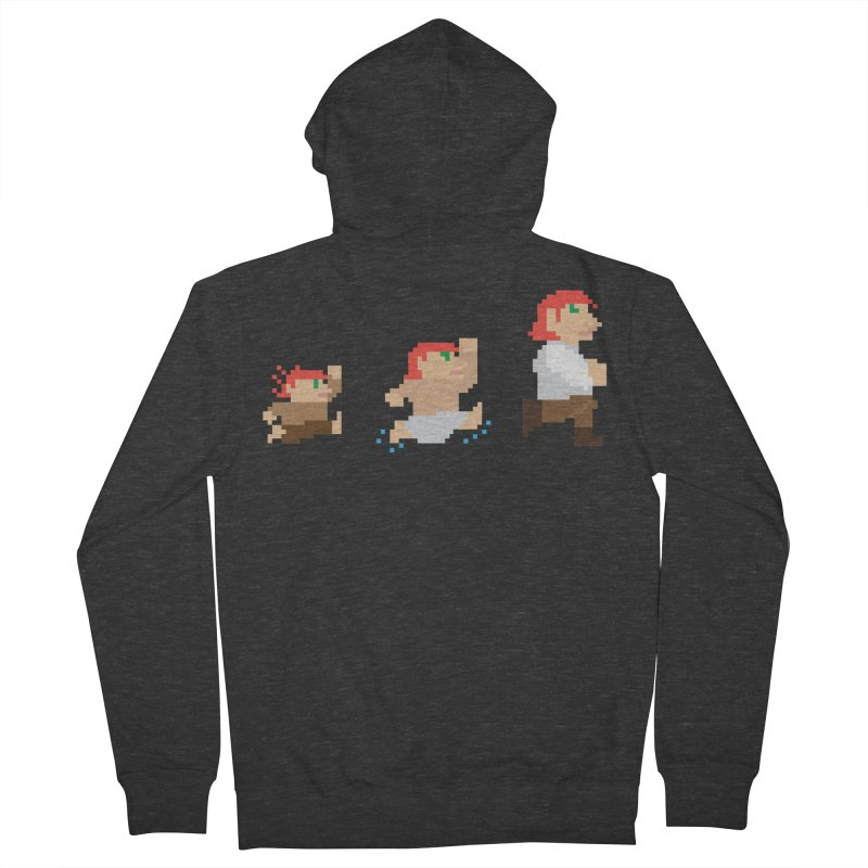 Level Up Women's French Terry Zip-Up Hoody by JordanaHeney Illustration