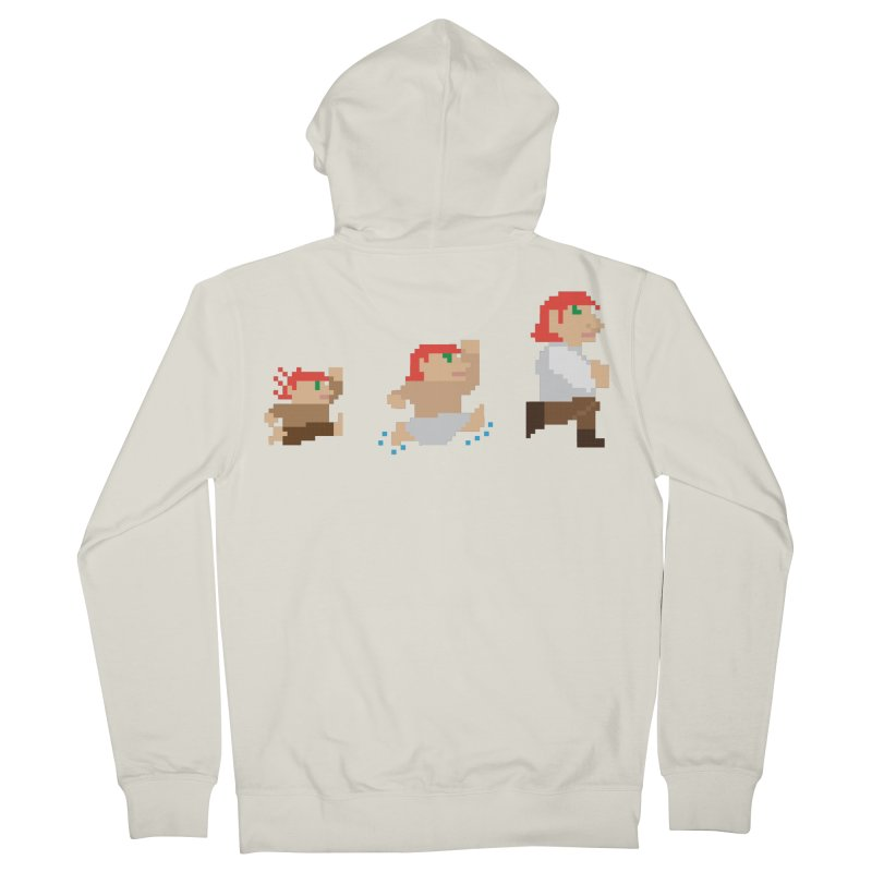 Level Up Men's Zip-Up Hoody by JordanaHeney Illustration