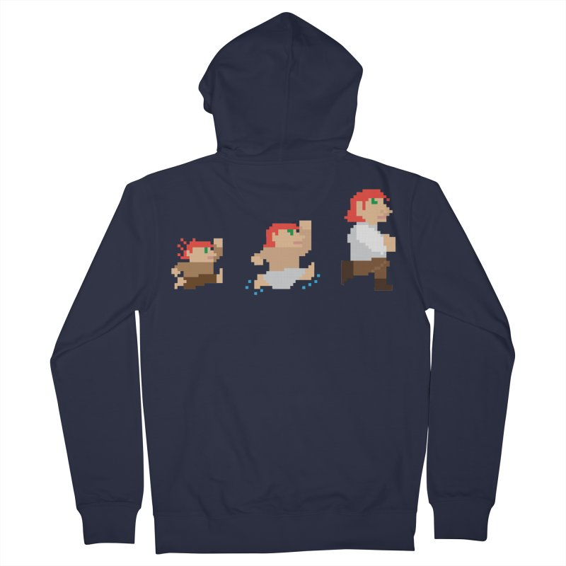 Level Up Men's French Terry Zip-Up Hoody by JordanaHeney Illustration