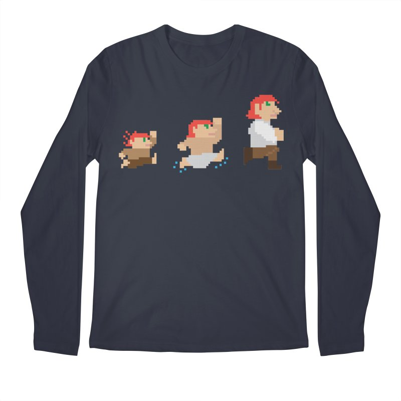 Level Up Men's Longsleeve T-Shirt by JordanaHeney Illustration
