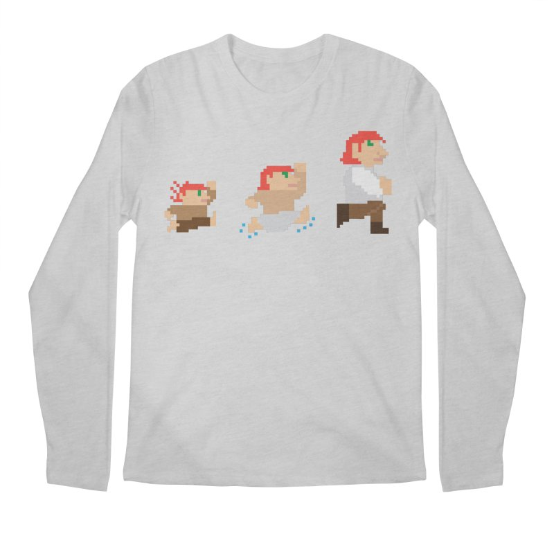 Level Up Men's Regular Longsleeve T-Shirt by JordanaHeney Illustration