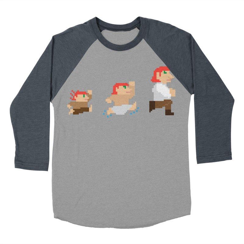 Level Up Men's Baseball Triblend T-Shirt by JordanaHeney Illustration