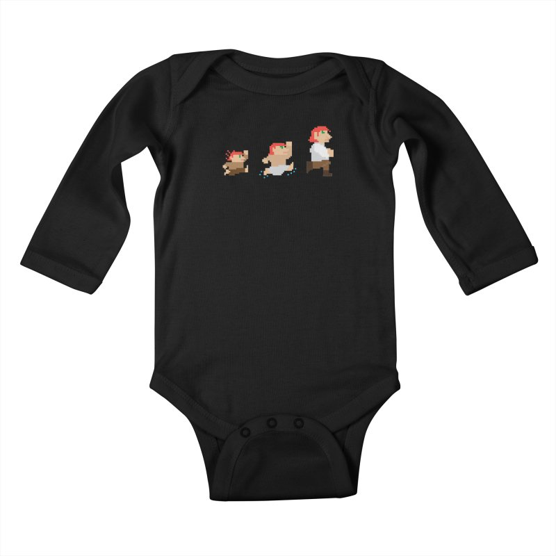 Level Up Kids Baby Longsleeve Bodysuit by JordanaHeney Illustration