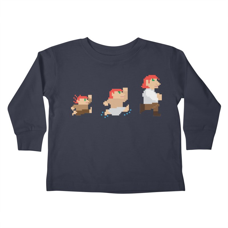 Level Up Kids Toddler Longsleeve T-Shirt by JordanaHeney Illustration
