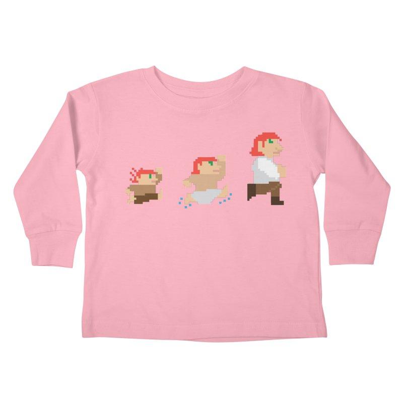 Level Up Kids Toddler Longsleeve T-Shirt by JordanaHeney Illustration