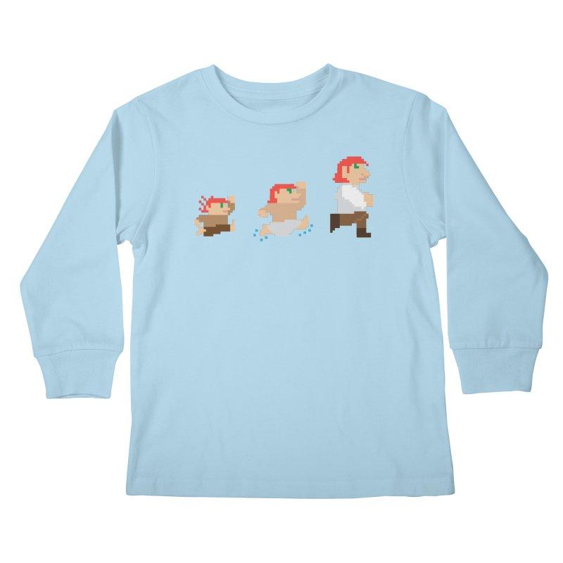 Level Up Kids Longsleeve T-Shirt by JordanaHeney Illustration