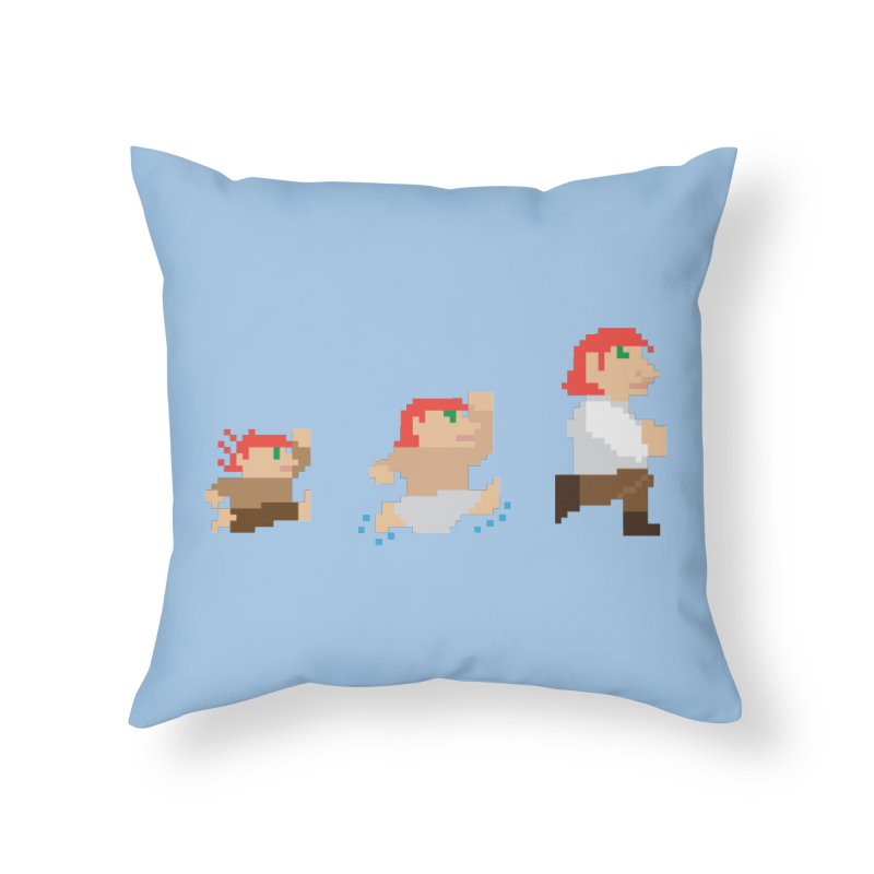 Level Up Home Throw Pillow by JordanaHeney Illustration