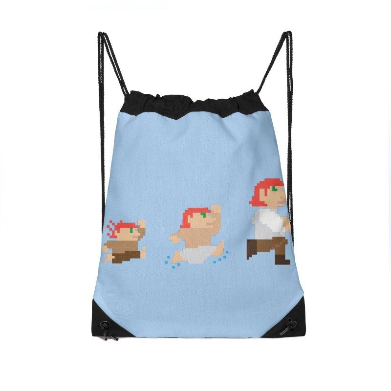 Level Up Accessories Drawstring Bag Bag by JordanaHeney Illustration