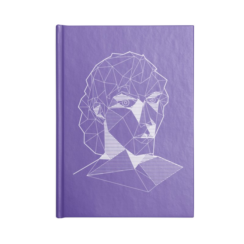 The Arcanist (inverse) Accessories Lined Journal Notebook by JordanaHeney Illustration