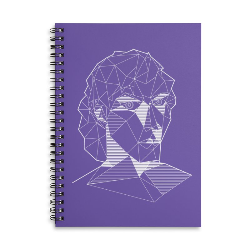 The Arcanist (inverse) Accessories Lined Spiral Notebook by JordanaHeney Illustration