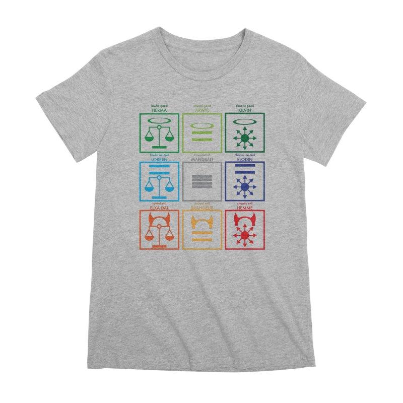 Alignment Chart (PotW) Women's Premium T-Shirt by JordanaHeney Illustration