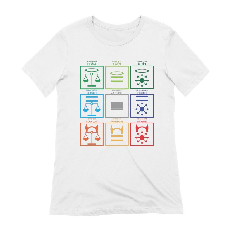 Alignment Chart (PotW) Women's Extra Soft T-Shirt by JordanaHeney Illustration
