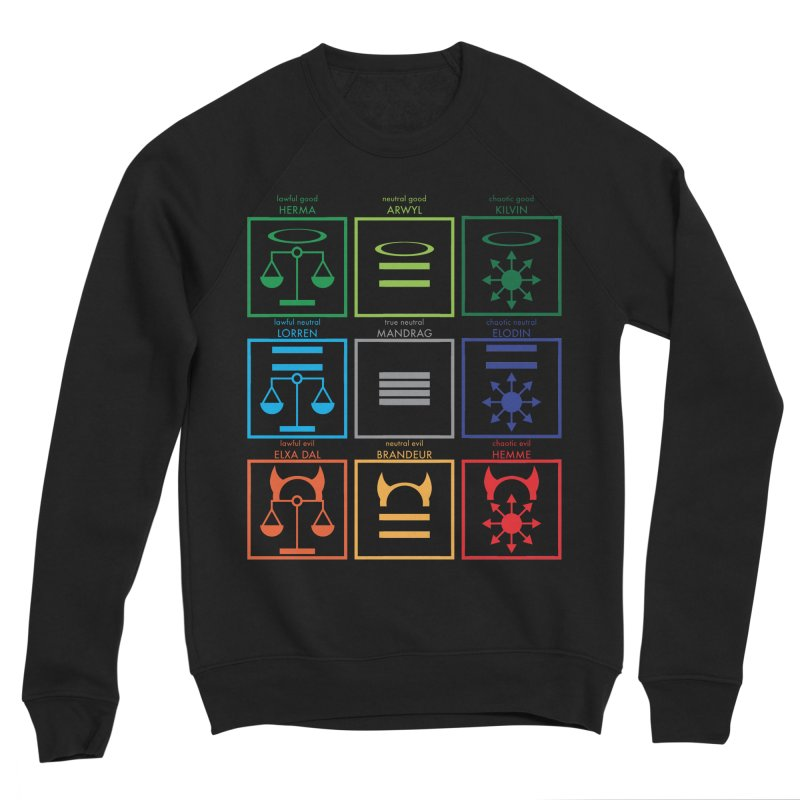 Alignment Chart (PotW) Women's Sponge Fleece Sweatshirt by JordanaHeney Illustration