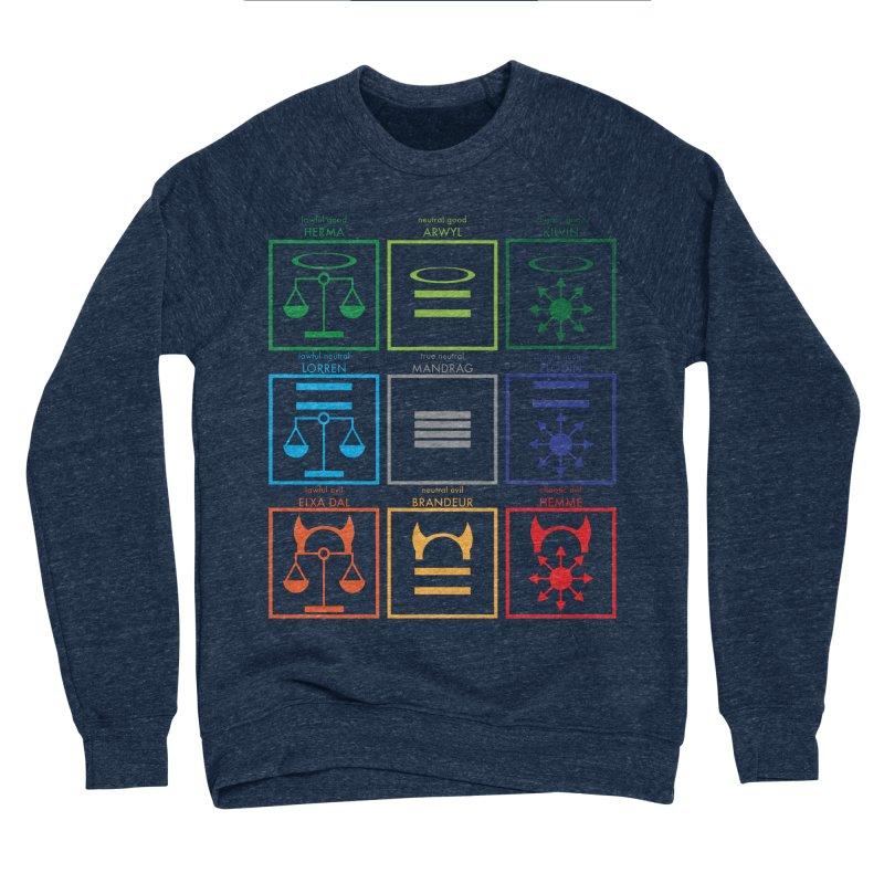 Alignment Chart (PotW) Men's Sponge Fleece Sweatshirt by JordanaHeney Illustration