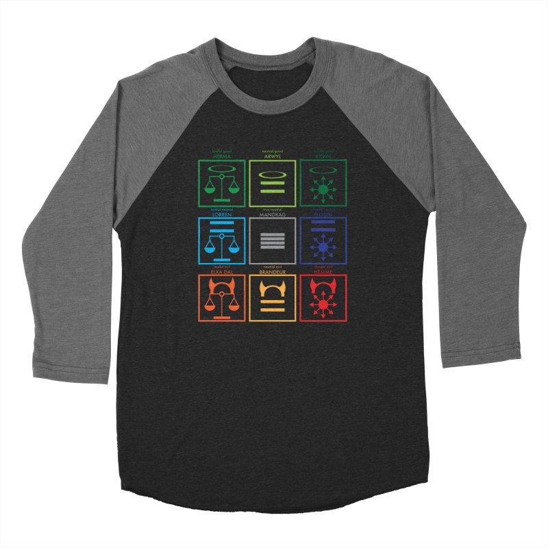 Alignment Chart (PotW) Women's Baseball Triblend Longsleeve T-Shirt by JordanaHeney Illustration