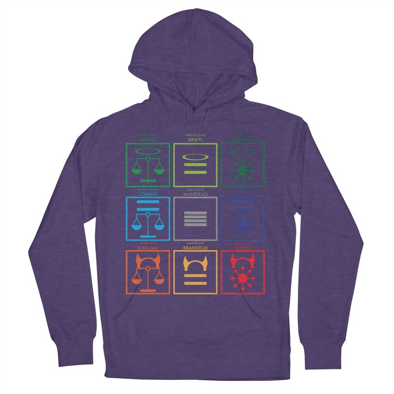 Alignment Chart (PotW) Women's French Terry Pullover Hoody by JordanaHeney Illustration