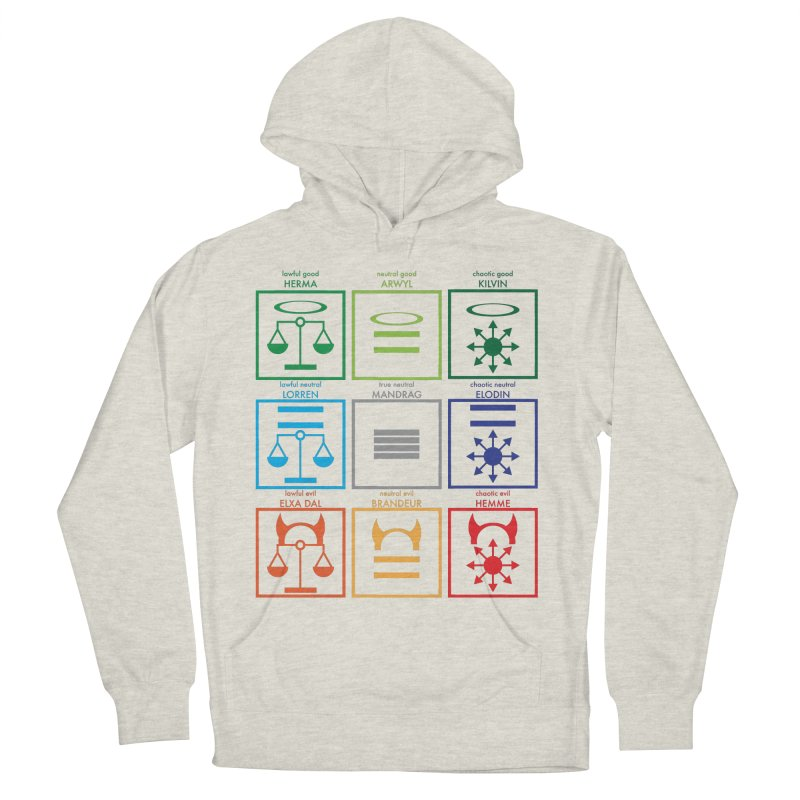 Alignment Chart (PotW) Men's French Terry Pullover Hoody by JordanaHeney Illustration